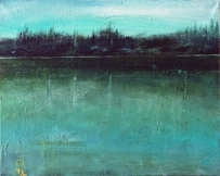 """Sold. 'Viridian (Sussex Weald)'. Acrylic on 20x16"""" canvas. 2014"""