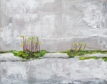 "Sold. 'Pincushion Moss'. Acrylic on 20x16"" canvas"