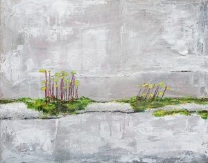 "Pincushion Moss. Acrylic on 20x16"" canvas"