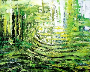 """Sold. 'River'. Acrylic on 20x16"""" canvas. Rose Strang 2013"""
