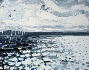 """Orkney Light. Acrylic on 20x16"""" canvas"""