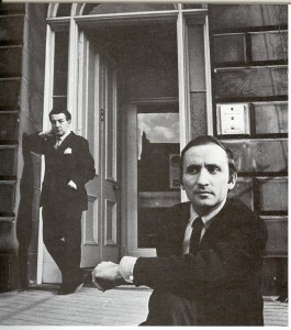 Richard Demarco outside his Melville Street Gallery in 1967