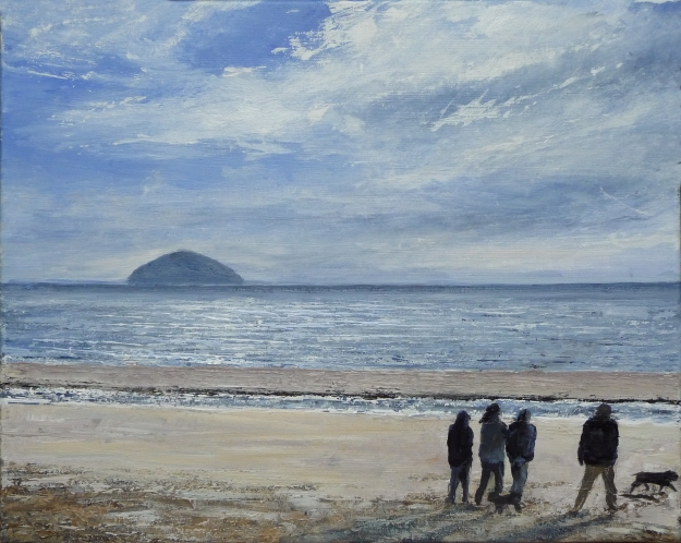 "'On Croy Beach' Acrylic on 20x16"" canvas"