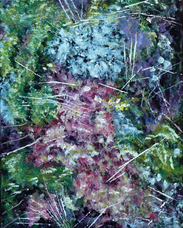 "'Sphagnum Moss'. Acrylic on 20x16"" canvas"