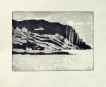 "(Not for sale)'Approaching Harris'. Aquatint etching 8x5.8"" on Hahnemuhle paper.. Rose Strang 2017"