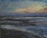 "Sold. 'Severn 1'. Acrylic on 14x11"" wood panel. Roe Strang 2017"