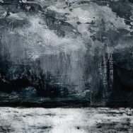 "Sold. 'Lindisfarne Series No. 1'. Acrylic on 5x5"" wood"
