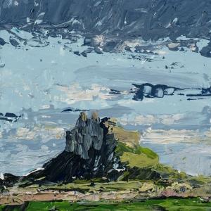 "'Lindisfarne Series No. 5'. Acrylic on 5x5"" wood"
