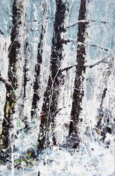 Sold. 'Winter Birch'. 20x14 inches