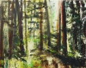 "Sold. 'Glentress'. Acrylic on 20x16"" canvas"