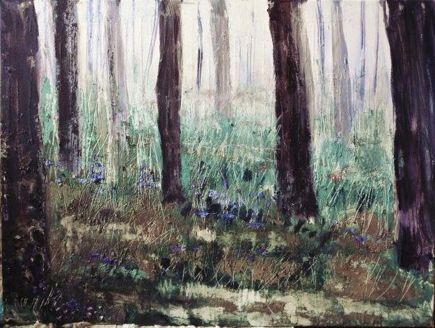 "In progress. 40x30"" canvas"
