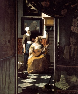 Jan Vermeer - Love Letter, 1670 at Rijksmuseum Amsterdam