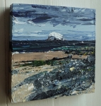 "'North Berwick 1'. Acrylic on 5x5"" wood (side view)"