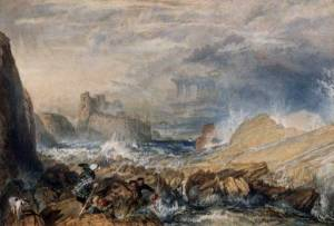 Tantallon Castle 1821 Joseph Mallord William Turner 1775-1851 Manchester City Galleries http://www.tate.org.uk/art/work/TW0600