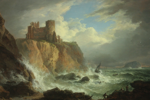 'View of Tantallon Castle and the Bass Rock' by Alexander Nasmyth
