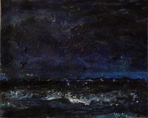 "'Blue'. Mixed media on 20x16"" canvas"