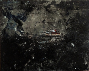 "'Nocturnes 3'. Mixed media on 20x16"" canvas"