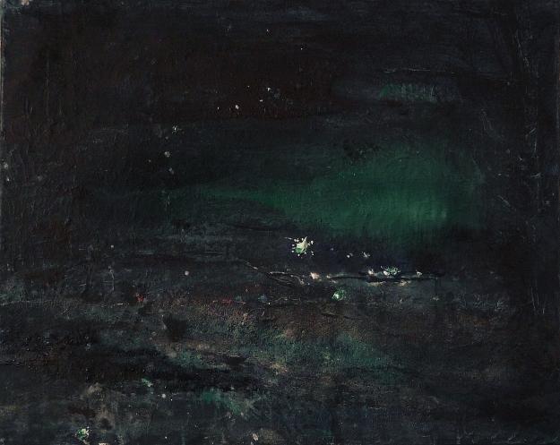 "'Blue 4'. Mixed media on 20x16"" canvas"