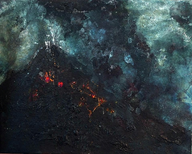 "'Nocturnes 5'. Mixed media on 20x16"" canvas"
