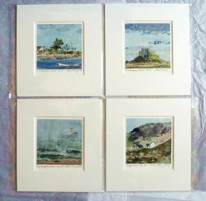Mounted Prints (selection). 5x5 inch image in 10x10 inch mount