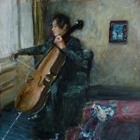 "Sold. 'Winter 11. Baroque'. Mixed media on 10x10"" wood panel. £150 (unframed) Rose Strang 2017"