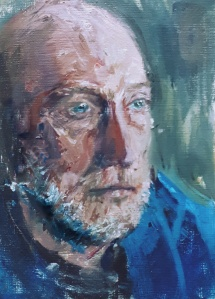 "'Donald Ferguson'. Oils on 7x10"" canvas. 2019. Rose Strang. NFS."