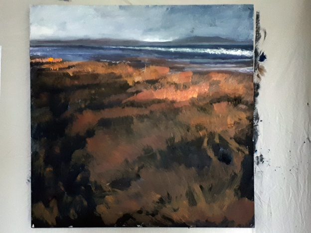 'Aberlady' in progress. Rose Strang 2020