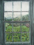'Labyrinth'. Mixed media on 7.5 x 5.5. inch wood. Rose Strang, April 2020
