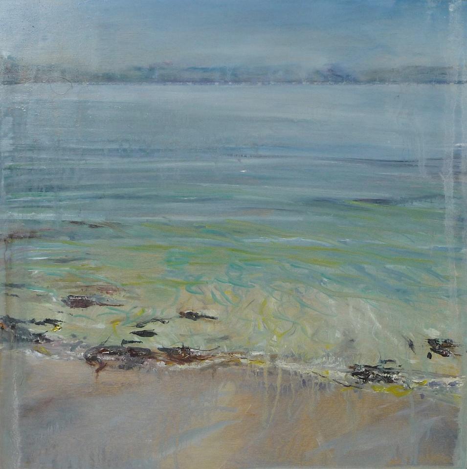 "'Ardban Morning Sunlight'. Oil on 19 x 19"" wood. Rose Strang 2020"