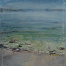 "'Ardban Morning Sun'. Oil on 19 x 19"" wood. Rose Strang 2020"