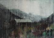 "'Through Kintail 2'. Oil on 33x23"" wood. Rose Strang 2020"