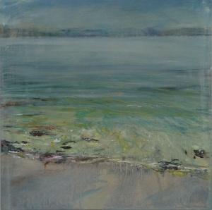 "Ardban, Morning Sunlight. 19.5"" x 19.5"". Oil on wood. Rose Strang 2020"