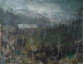 "'Through Kintail'. Oil on 14x11"" wood. Rose Strang 2020"