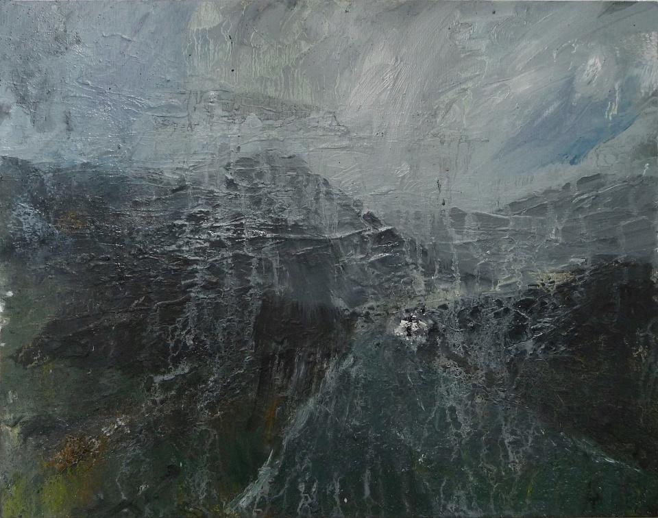 "'Through Kintail 3' Oil on 14x11"" wood. Rose Strang 2020"